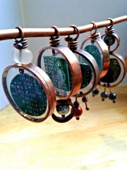 acj computer pendants with gems