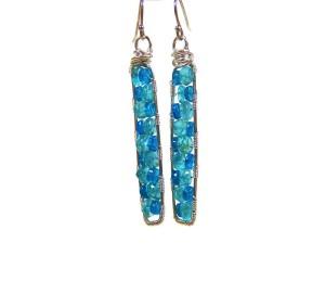 AmyCousinJewelry Apatite Ladder earrings