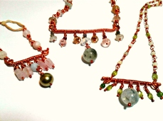 acj Greenery Collection bar necklaces