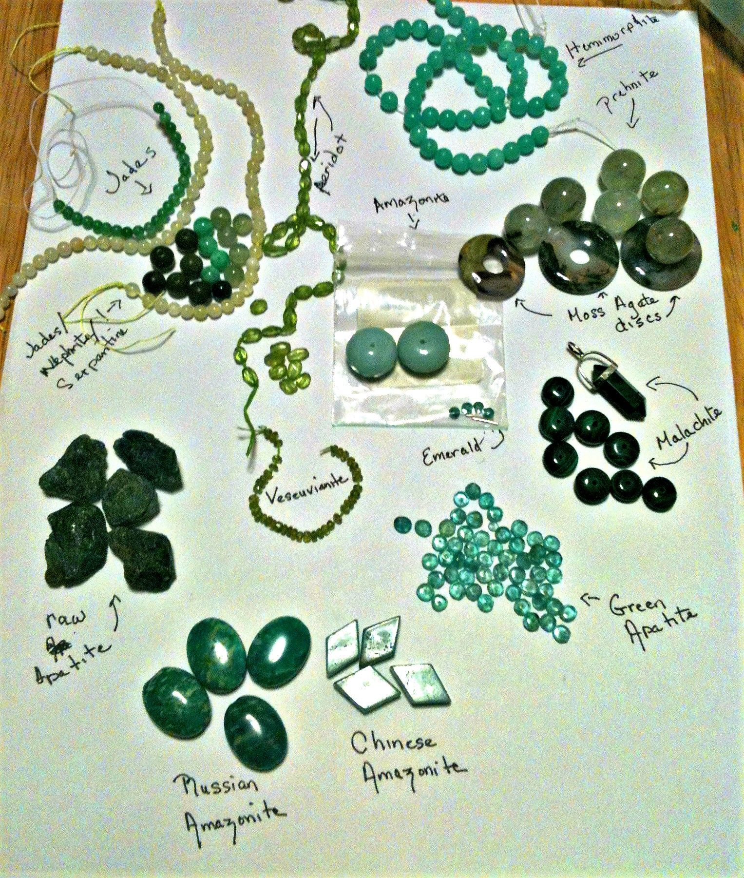 AmyCousinJewelry green gemstones explained