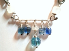 Into The Blue silver bar necklace