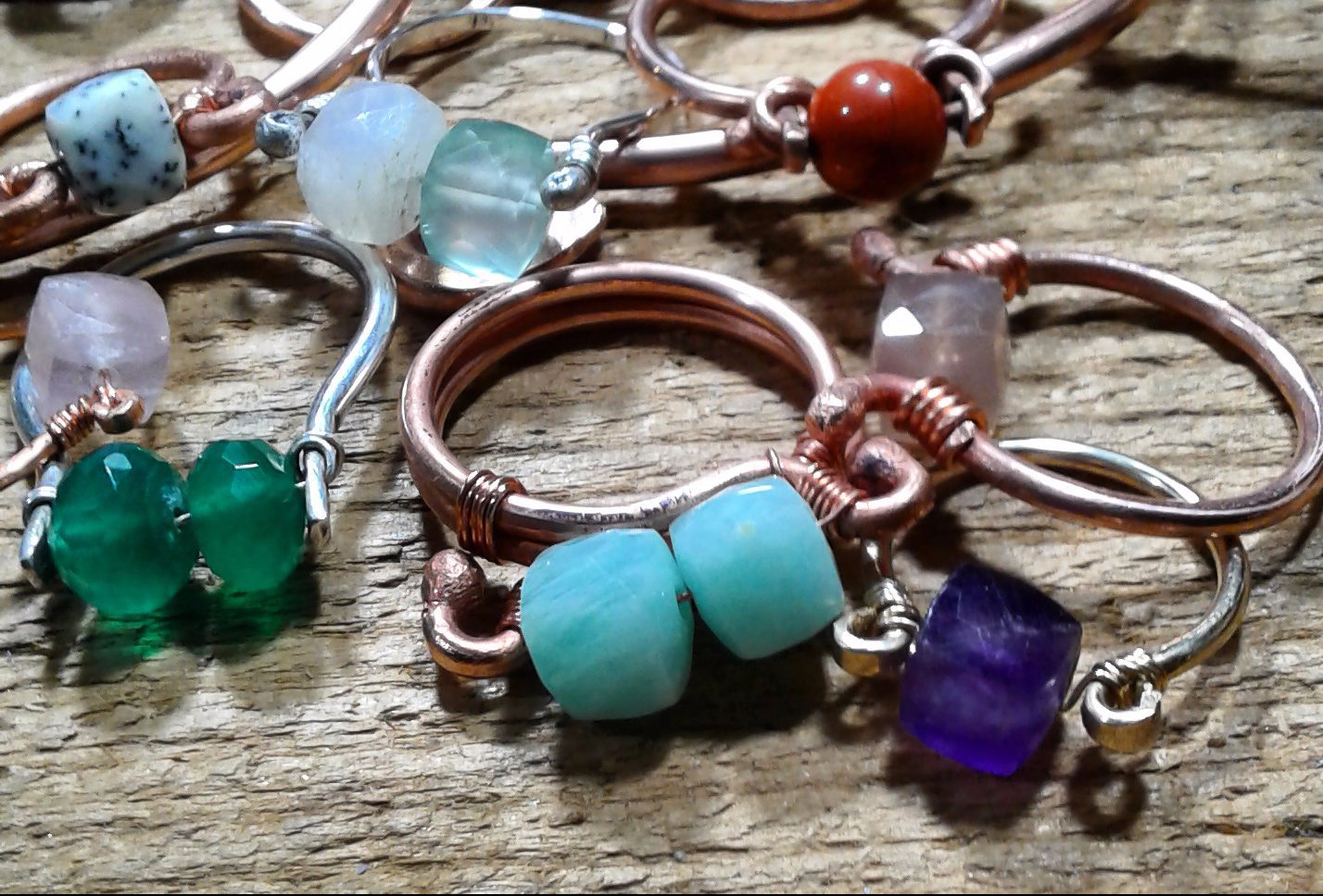 assortment of Amy Cousin Jewelry rings